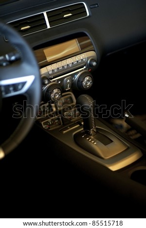 Sport Car Elegant Leather Interior and Dash. Car Interiors Photo Collection