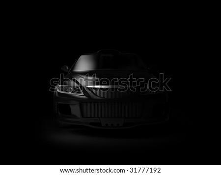 Sport car in dark #31777192