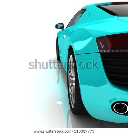 Stock Photo Sport car isolated on white