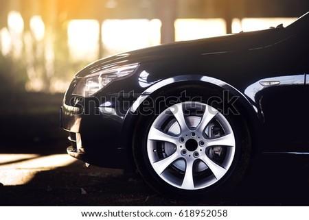 Sport car wheels and break. #618952058