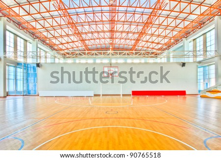 Sport complex in university Thailand,school gym indoor.