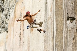 sport dangerous climber story rock romeo juliet crazy stone climbers jump may very well suggest a love racing to his girlfriend in traditional roma and juliet posture sport dangerous climber story roc