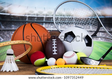 sport equipment and balls ...