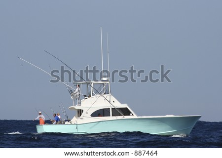 sport fishing boat in the gulf...