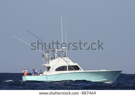 sport fishing boat in the gulf...