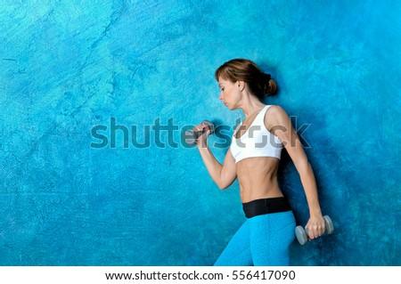 sport fitness woman doing...