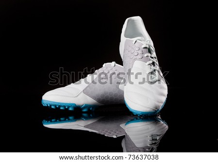 Sport footwear. Soccer boots. Close up, nobody.