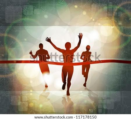 Sport illustration. Run - stock photo
