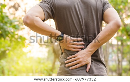 sport injury  man with back pain