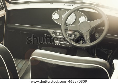 sport interior vintage car are...