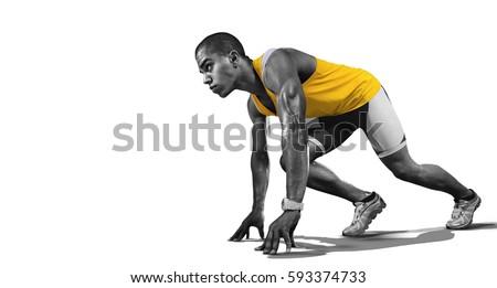 Sport. Isolated Athlete runner. Silhouette.