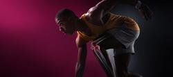 Sport. Isolated Athlete runner. Silhouette. Start