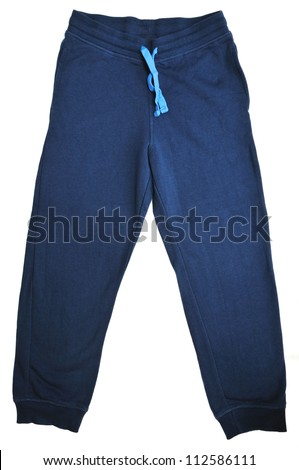 sport pants for children on over the white