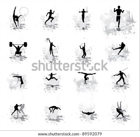 Sport peoples. - stock photo