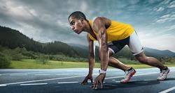 Sport. Runner on the start.
