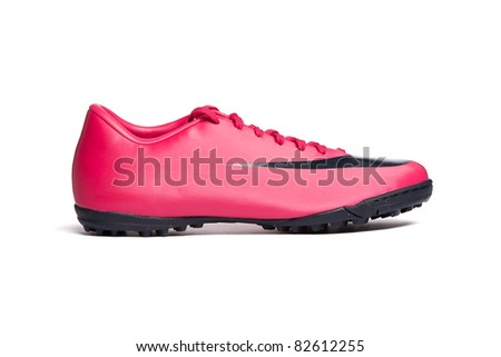 Sport shoe isolated on white background. Closeup