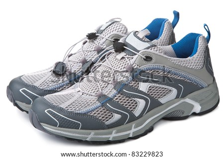 sport shoes isolated - stock photo