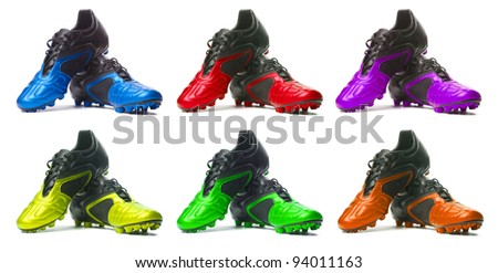 Sport shoes set.  Isolated on white. Manycolored