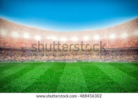 sport stadium background #488456302