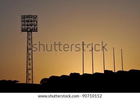 Sport stadium sunset