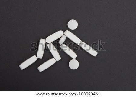 Sport Symbol made of pills.
