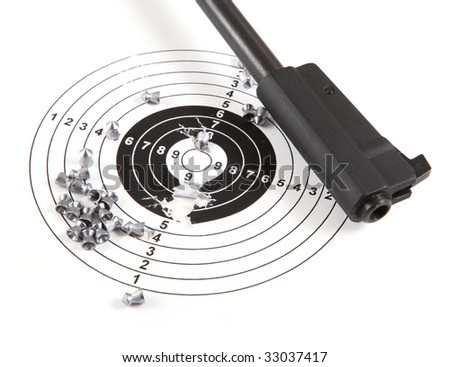 Sport target and gun - stock photo