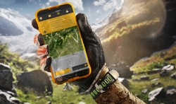 Sport.Tourism. GPS navigator in hand