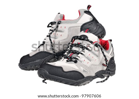 Sport trekking shoe isolated over white with clipping path