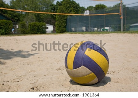 sport volleyball ball on sand