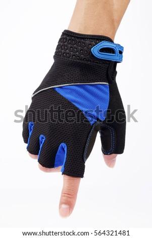 sporting gloves,Wearing mitten Stock photo ©