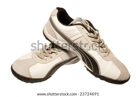 Sporting shoe of running shoe for going in for sports - stock photo