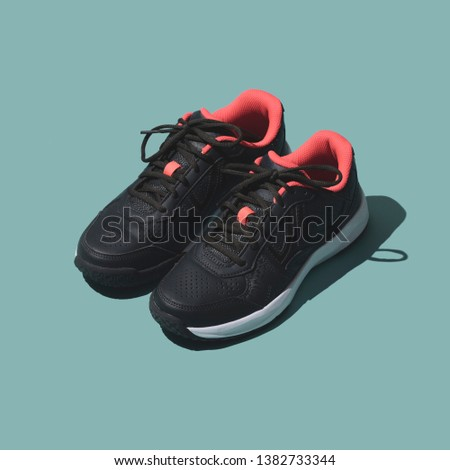 Sports and training shoes for run and workout, sportswear equipment