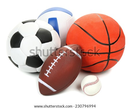 Sports balls isolated on white #230796994