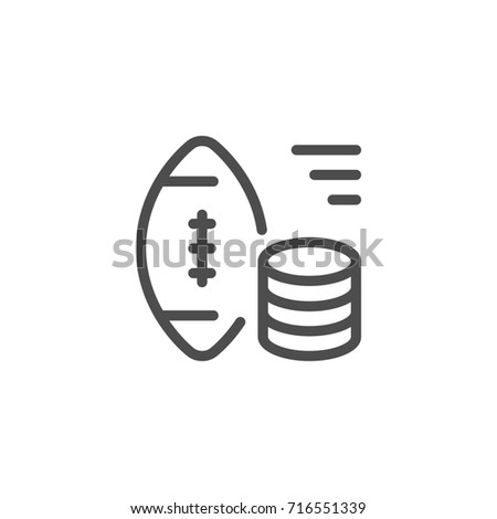 Sports betting line icon isolated on white