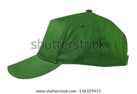 Sports cap isolated on white - stock photo