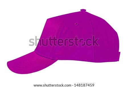 Sports cap isolated on white - stock photo