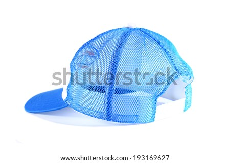 Sports cap isolated on white.