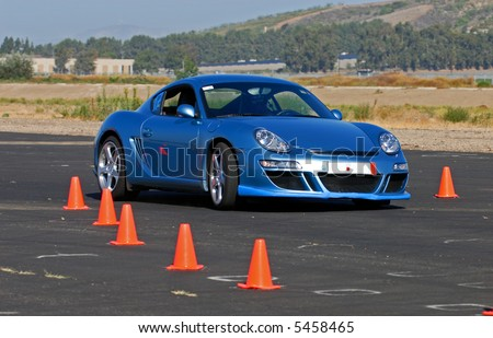 sports car competing in PCASB autocross race
