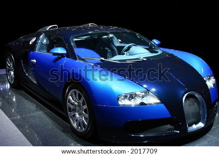 Sports Car on display. Editorial Use.