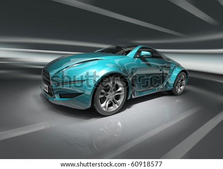 Sports car. Original car design.