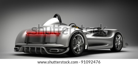 Sports car road-star 3d render (No trademark issues as the car is my own design)