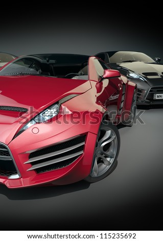 Sports cars Non-branded car design