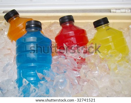 Sports Energy Drinks On Ice