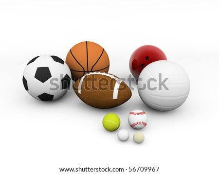 Clipart Sports Equipment. stock photo : sports equipment