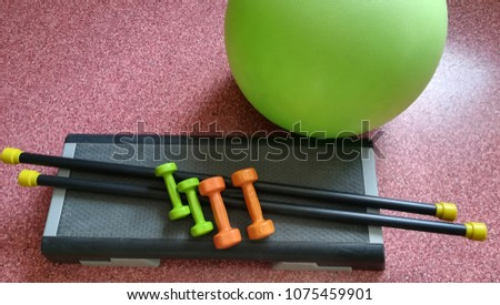 sports equipment for fitness #1075459901