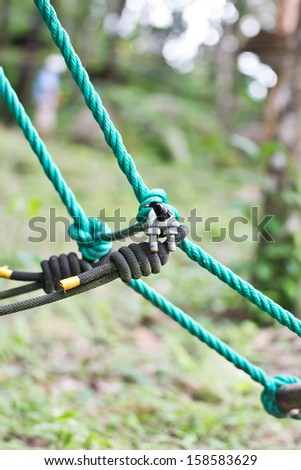 Sports equipment for rope course