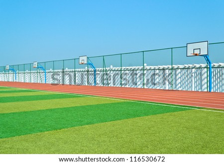 sports field on the sports field