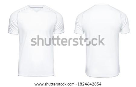 Sports football uniforms white shirt isolated on white background Stock photo ©