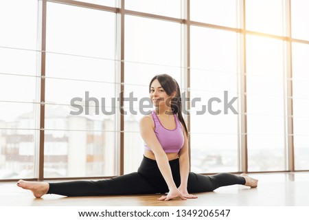 Stretching Muscles Girls in Gym Images and Stock Photos