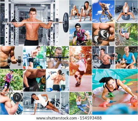 Sports Lifestyle Concept. People In Sports